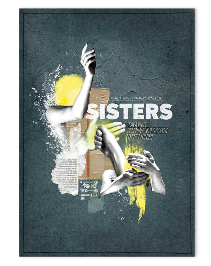 "Filmplakat zu ""Sisters"" von Daphne Luckker (rarecandy.nl)"