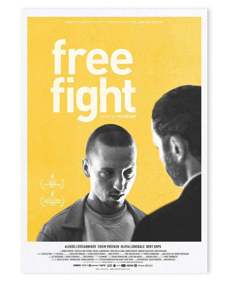 Free Fight Poster ontwerp Abel van Erkel