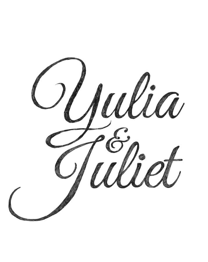 Yulia en Juliet Typografie Abel van Erkel